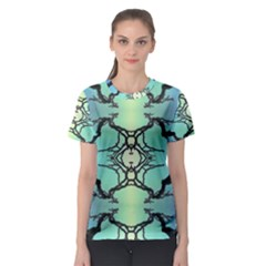 Branches With Diffuse Colour Background Women s Sport Mesh Tee