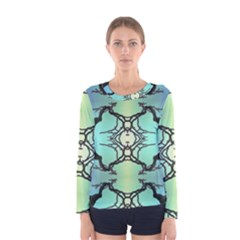 Branches With Diffuse Colour Background Women s Long Sleeve Tee