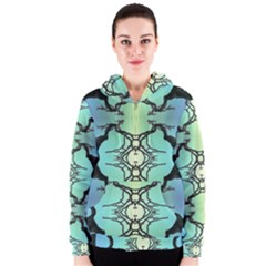 Branches With Diffuse Colour Background Women s Zipper Hoodie