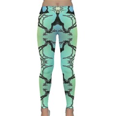 Branches With Diffuse Colour Background Classic Yoga Leggings