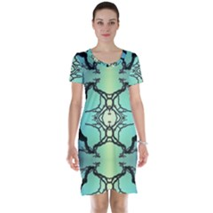 Branches With Diffuse Colour Background Short Sleeve Nightdress