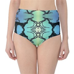 Branches With Diffuse Colour Background High-Waist Bikini Bottoms