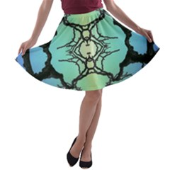 Branches With Diffuse Colour Background A Line Skater Skirt
