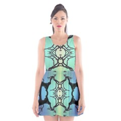 Branches With Diffuse Colour Background Scoop Neck Skater Dress