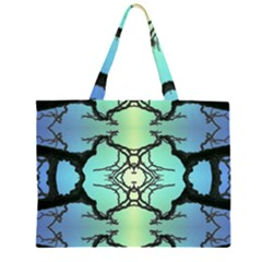 Branches With Diffuse Colour Background Zipper Large Tote Bag
