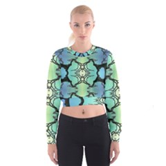 Branches With Diffuse Colour Background Cropped Sweatshirt