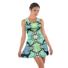 Branches With Diffuse Colour Background Cotton Racerback Dress