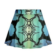 Branches With Diffuse Colour Background Mini Flare Skirt