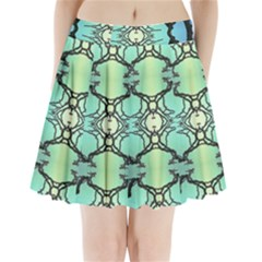 Branches With Diffuse Colour Background Pleated Mini Skirt