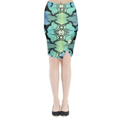 Branches With Diffuse Colour Background Midi Wrap Pencil Skirt