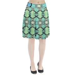 Branches With Diffuse Colour Background Pleated Skirt