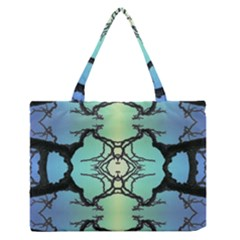 Branches With Diffuse Colour Background Medium Zipper Tote Bag