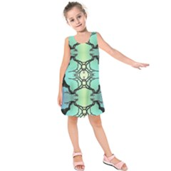 Branches With Diffuse Colour Background Kids  Sleeveless Dress