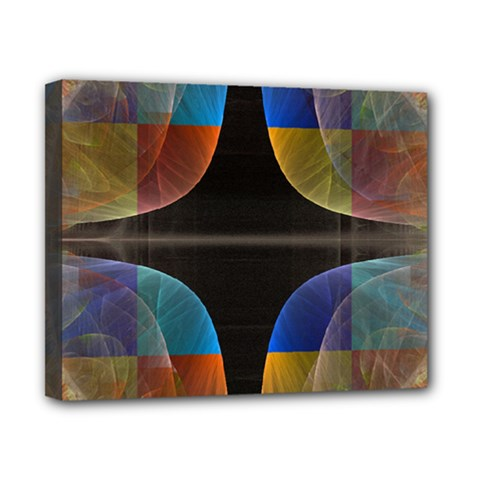 Black Cross With Color Map Fractal Image Of Black Cross With Color Map Canvas 10  x 8