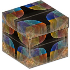 Black Cross With Color Map Fractal Image Of Black Cross With Color Map Storage Stool 12