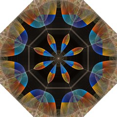 Black Cross With Color Map Fractal Image Of Black Cross With Color Map Hook Handle Umbrellas (Large)