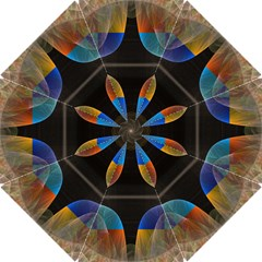 Black Cross With Color Map Fractal Image Of Black Cross With Color Map Hook Handle Umbrellas (small)