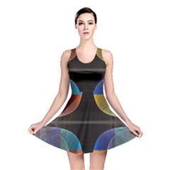 Black Cross With Color Map Fractal Image Of Black Cross With Color Map Reversible Skater Dress