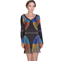 Black Cross With Color Map Fractal Image Of Black Cross With Color Map Long Sleeve Nightdress