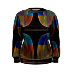 Black Cross With Color Map Fractal Image Of Black Cross With Color Map Women s Sweatshirt