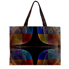 Black Cross With Color Map Fractal Image Of Black Cross With Color Map Zipper Mini Tote Bag