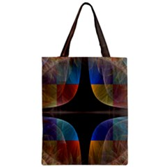Black Cross With Color Map Fractal Image Of Black Cross With Color Map Zipper Classic Tote Bag