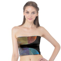 Black Cross With Color Map Fractal Image Of Black Cross With Color Map Tube Top