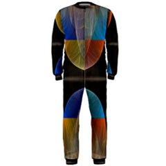 Black Cross With Color Map Fractal Image Of Black Cross With Color Map OnePiece Jumpsuit (Men)