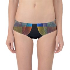 Black Cross With Color Map Fractal Image Of Black Cross With Color Map Classic Bikini Bottoms