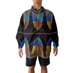 Black Cross With Color Map Fractal Image Of Black Cross With Color Map Wind Breaker (Kids)