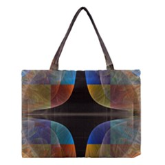 Black Cross With Color Map Fractal Image Of Black Cross With Color Map Medium Tote Bag