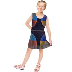 Black Cross With Color Map Fractal Image Of Black Cross With Color Map Kids  Tunic Dress