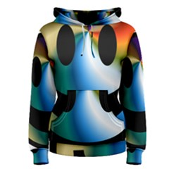 Simple Smiley In Color Women s Pullover Hoodie