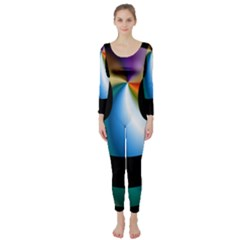 Simple Smiley In Color Long Sleeve Catsuit
