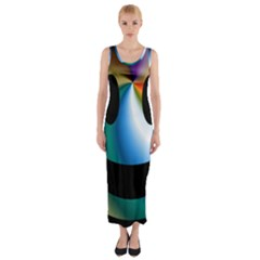 Simple Smiley In Color Fitted Maxi Dress