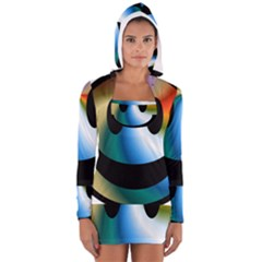 Simple Smiley In Color Women s Long Sleeve Hooded T-shirt