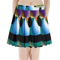 Simple Smiley In Color Pleated Mini Skirt