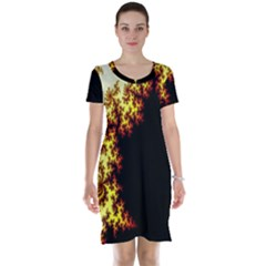A Fractal Image Short Sleeve Nightdress