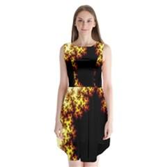 A Fractal Image Sleeveless Chiffon Dress