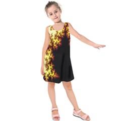A Fractal Image Kids  Sleeveless Dress