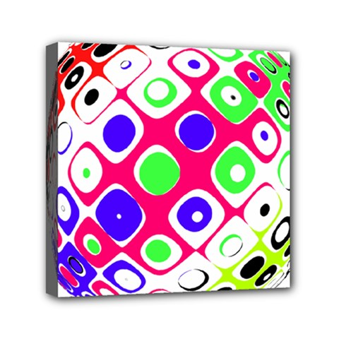 Color Ball Sphere With Color Dots Mini Canvas 6  x 6