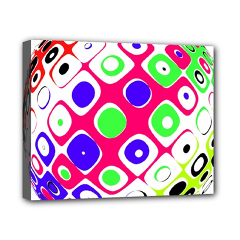 Color Ball Sphere With Color Dots Canvas 10  X 8