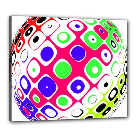 Color Ball Sphere With Color Dots Canvas 24  X 20