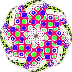 Color Ball Sphere With Color Dots Folding Umbrellas