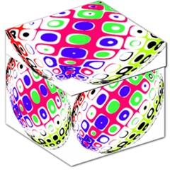 Color Ball Sphere With Color Dots Storage Stool 12