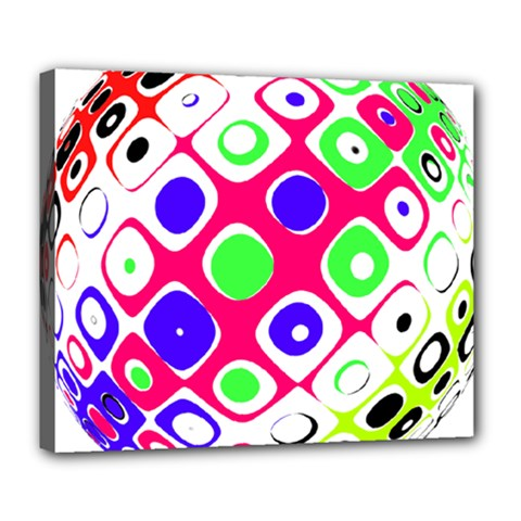Color Ball Sphere With Color Dots Deluxe Canvas 24  x 20