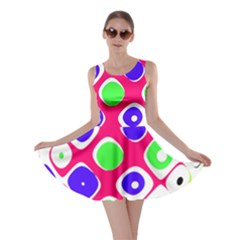 Color Ball Sphere With Color Dots Skater Dress