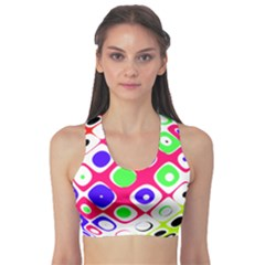 Color Ball Sphere With Color Dots Sports Bra