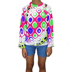 Color Ball Sphere With Color Dots Kids  Long Sleeve Swimwear