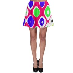 Color Ball Sphere With Color Dots Skater Skirt